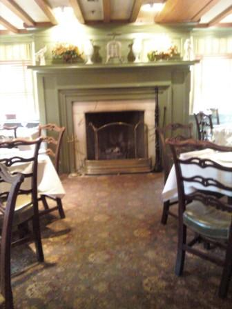 Inside 1789's Dining Room; Gorgeous Fireplace