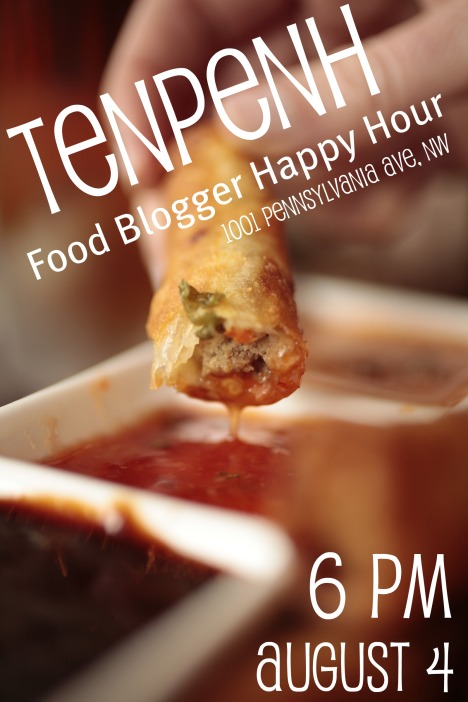 DC Food Blogger Happy Hour TenPenh