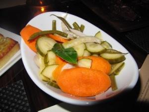 BLT Steak Pickled Vegetables.